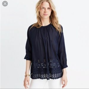 Madewell Blouse w/ Cutwork Size Small